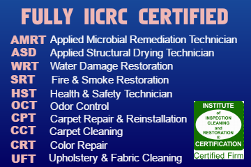 CRM Services IICRC Certifications
