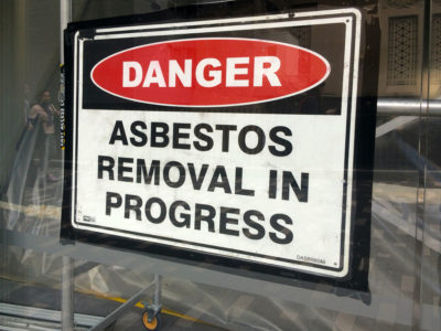 Asbestos Removal Danger Sign
